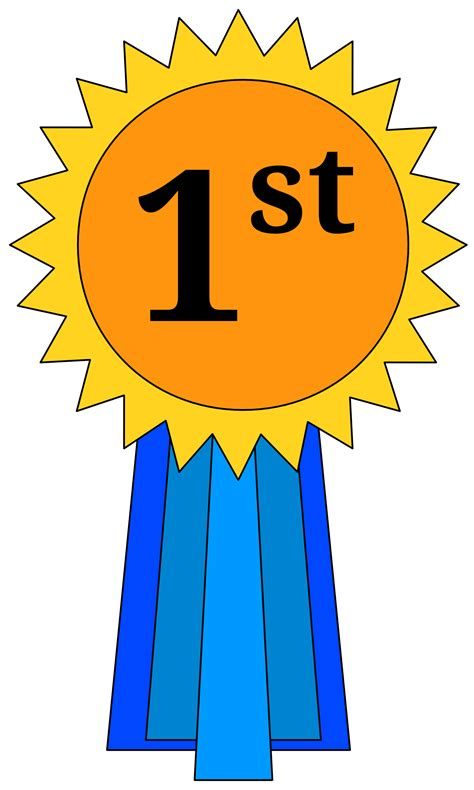 1st prize ribbon template 1st place award ribbon clipart clipart panda free