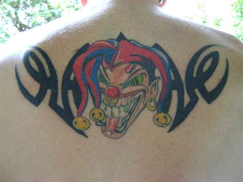 evil tribal tattoos 25 amazing jester designs