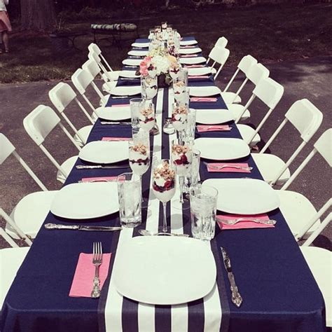 navy and white striped table runner wholesale 4 navy white stripe table runners wedding event