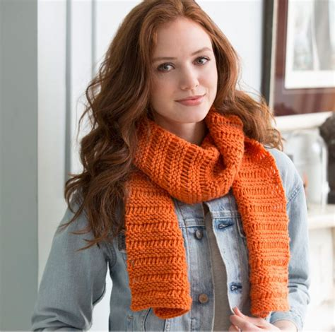 allfree knitting garter drop stitch scarf allfreeknitting