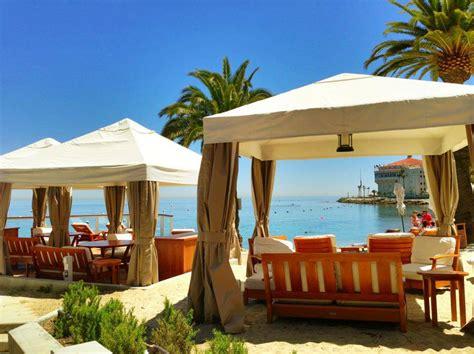 descanso beach club cabana rentals visit catalina island