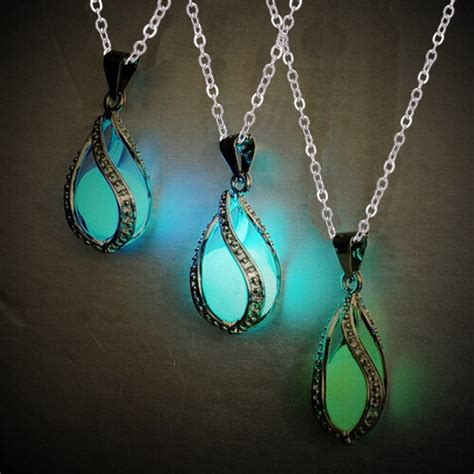 bead necklaces cheap glow in cheap necklace hollow luminous bead pendant