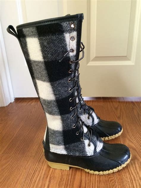 ll bean bison boots ll bean signature bean boots 7 black and white wool