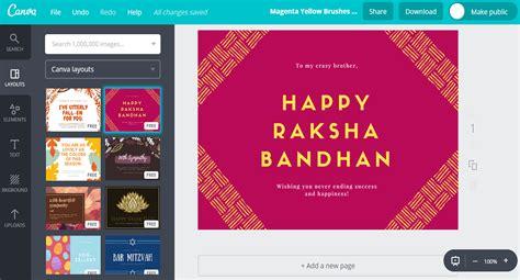raksha bandhan card templates free custom raksha bandhan card designs by canva