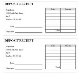 Receipt Of Deposit Template Alfa Img Showing Gt Rent Deposit Receipt Template