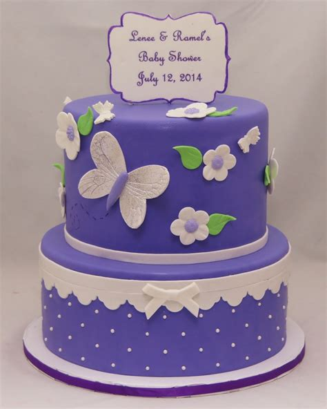Baby Shower Ny by Lavender White Butterfly Baby Shower Cake Cake In Cup Ny