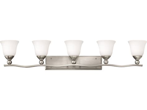 Hinkley Vanity Light Hinkley Lighting Bolla Brushed Nickel Five Light Vanity