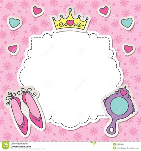 Vans Transparent Pink Mirror het frame de prinses vector illustratie afbeelding