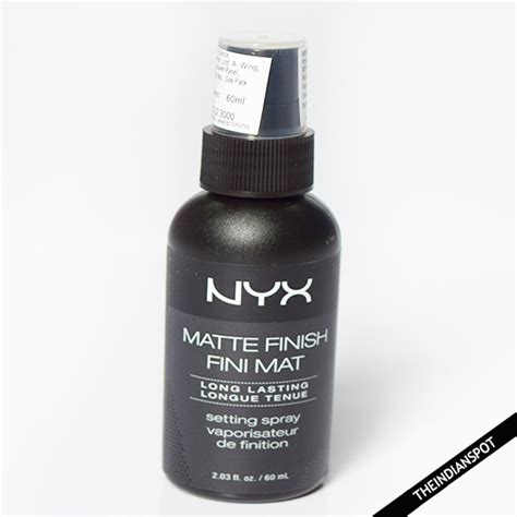 Nyx Finish Matte nyx matte finish makeup setting spray review theindianspot