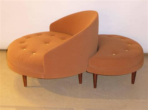 round ottoman seat superb adrian pearsall round lounge chair with fitted ottoman at 1stdibs