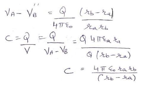 spherical capacitor formula explain spherical capacitors in detail with exle
