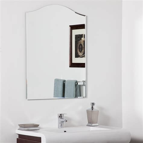 bathroom decorative mirror decor wonderland amelia modern bathroom mirror beyond stores