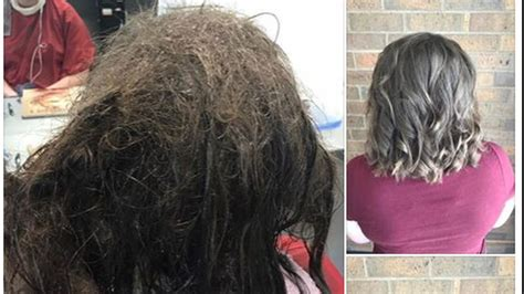 hairdressers refuse to shave depressed s matted hair