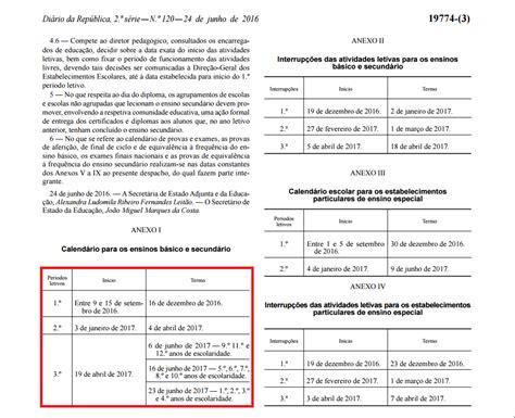 Calendario Escolar Porto Editora 2016 Calend 225 Escolar 2016 2017 Comregras