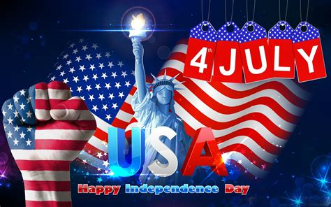 july usa independence day statue  liberty wishes
