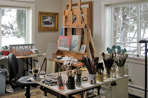 painting studio paintings by equine artist terry