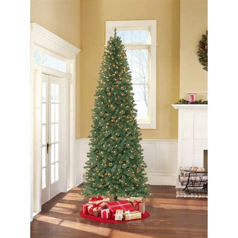 holiday time pre lit 65 madison pine white artificial christmas tree clear lights time pre lit 6 5 tree green multi colored lights walmart