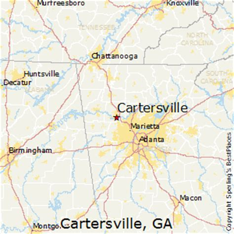 best places to live in cartersville, georgia