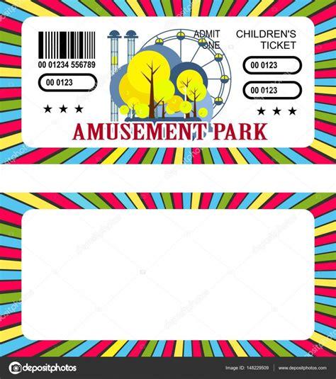 Tiket Park ticket amusement park stock vector 169 marrishuannna