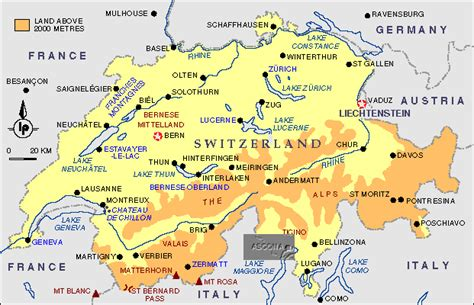 major cities in switzerland map switzerland map and cities