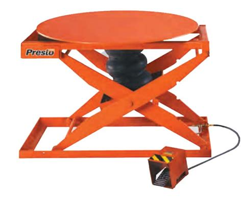 presto lift turntables work positioners lift tables