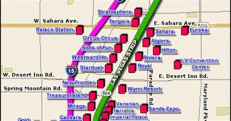 printable map vegas strip map of las vegas strip free printable maps