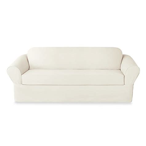 twill slipcovers buy sure fit 174 twill supreme 2 piece sofa slipcover from