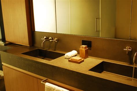 Modern Bathroom Countertops Concrete Bathroom Countertop With Sink Modern Vanity Tops And Side Splashes New