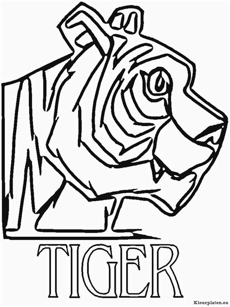 afl tigers colouring pages