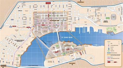 printable map jacksonville fl jacksonville riverwalk map map of jacksonville riverwalk