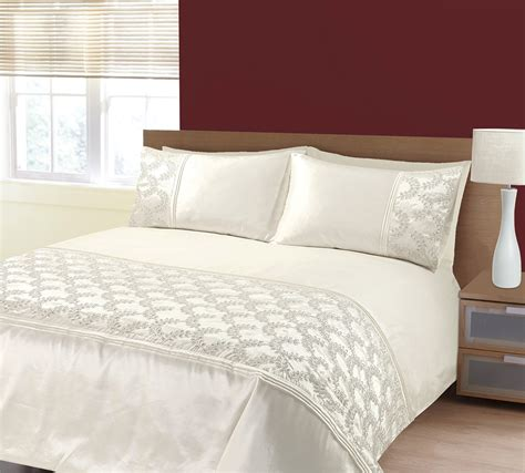 zara bedding embellished sequin panel glitz zara duvet bedding set in cream