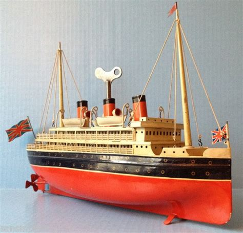 toy boat ocean boat ocean liner bing carette marklin type windup antique