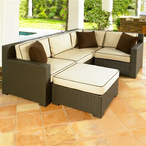 malibu patio furniture malibu all weather wicker sectional collection by chicago wicker