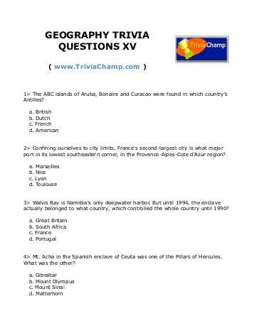 quiz questions nz geography movie trivia questions xv trivia ch