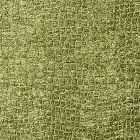 spring green shiny reptile skin  velvet upholstery fabric
