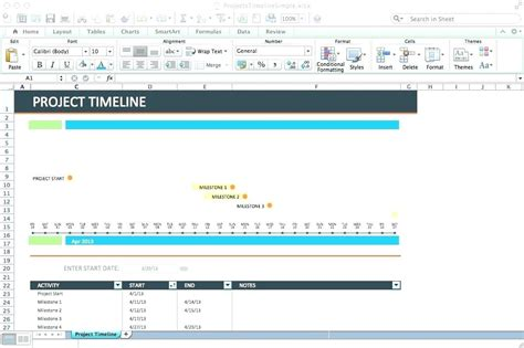 excel 2010 project timeline template awesome microsoft timeline templates gallery exle