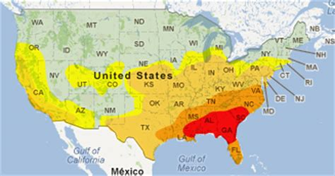 intensity map us states termite map us intensity of us termite attacks this map