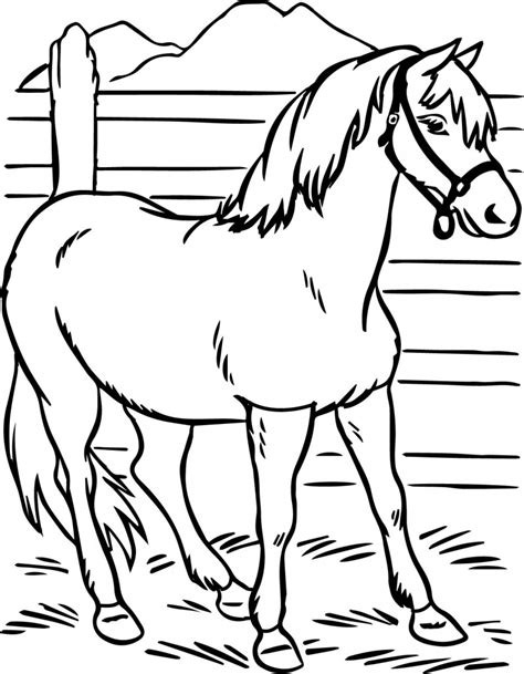 preschool coloring pages horses horse coloring pages preschool and kindergarten
