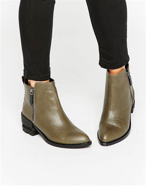 aldo aldo flat chelsea boots at asos