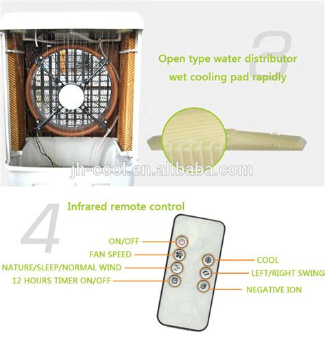 sqm co ltd fan remote jhcool low noise portable evaporative air cooler roof