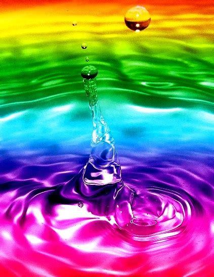 rainbow water rainbow color water splash 175 184 de l arc en ciel