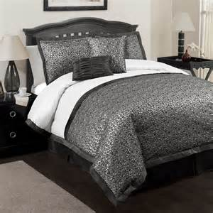 silver comforter king 6pc lush decor king comforter set gold brown leopard faux
