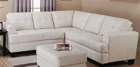 cream bonded leather sofa cream bonded leather modern sectional sofa w button tufted