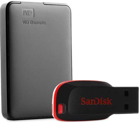 buy wd elements portable drive 1 tb sandisk cruzer blade 16 gb usb black free