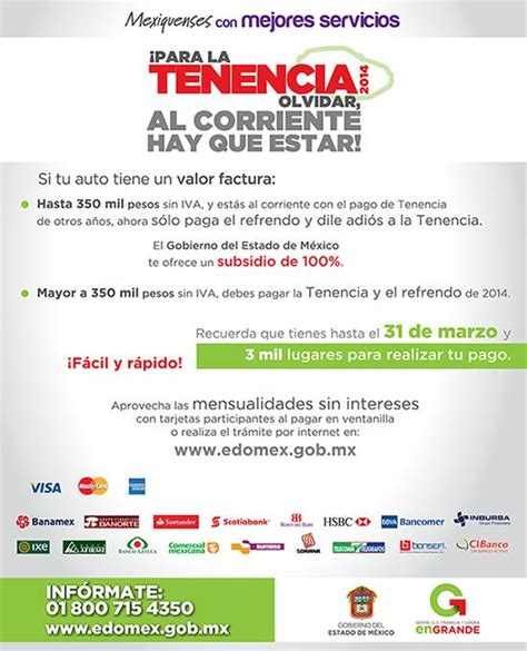 pago de tenencia edo mex 2014 refrendo estado de mexico formato