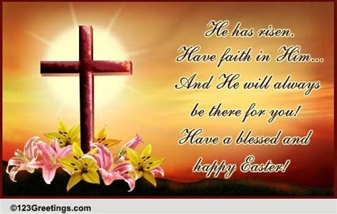 Blessed And Happy Easter  Free Happy Easter eCards