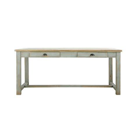 table en bois salle a manger table de salle 224 manger en bois grise l 180 cm sarlat maisons du monde