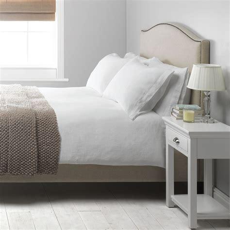 buy bedding online john lewis washed linen duvet cover white review