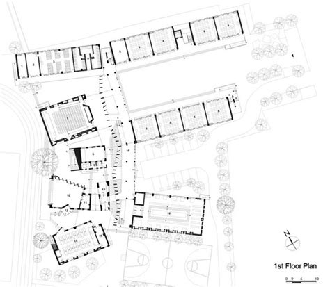 architecture school floor plan trace architecture office tao xiaoquan ethnic elementary