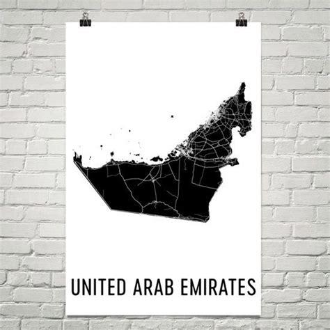uae map united arab emirates art map  united arab